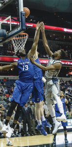 DANIEL KREYTAK/THE HOYA Senior Riyan Williams walked onto the Georgetown men's basketball team his junior year.