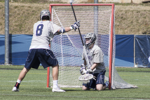 FILE PHOTO: CLAIRE SOISSON/THE HOYA Sophomore goalkeeper Nick Marrocco recorded 13 saves in Georgetown's 10-7 loss to Towson on Saturday.