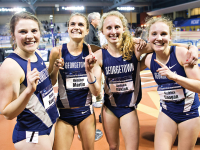 COURTESY GEORGETOWN SPORTS INFORMATION The women's track and field team finished first in the distance medley relay at the NCAA championships with a time of 10:57.21.