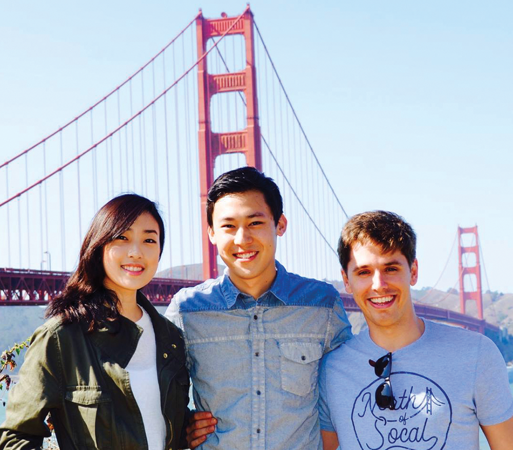 COURTESY ENCORE ALERT  Encore Alert, founded by Tammy Cho (MSB '17), James Li (MSB '13) and Felipe Lopes, was acquired by Meltwater in late March.