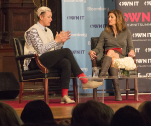 "NAAZ MODAN/THE HOYA Co-anchor of ""CBS This Morning"" Norah O'Donnell, right, interviewed former U.S. national women's soccer player Abby Wambach at Georgetown's OWN IT Summit on Saturday."