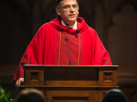COURTESY FR. KEVIN O'BRIEN  Fr. Kevin O'Brien, S.J. (CAS '88), after serving as Georgetown's vice president for mission and ministry, will transfer to Santa Clara.
