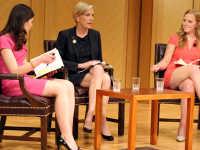 COURTESY OF HAYDEN E. JEONG Planned Parenthood President Cecile Richards spoke about the future of her organization and its new initiatives in Lohrfink Auditorium on Thursday.