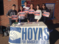 COURTESY HOYAS FOR IMMIGRANT RIGHTS Following advocacy by groups such as Hoyas for Immigrant Rights, the university has launched a website for undocumented students.