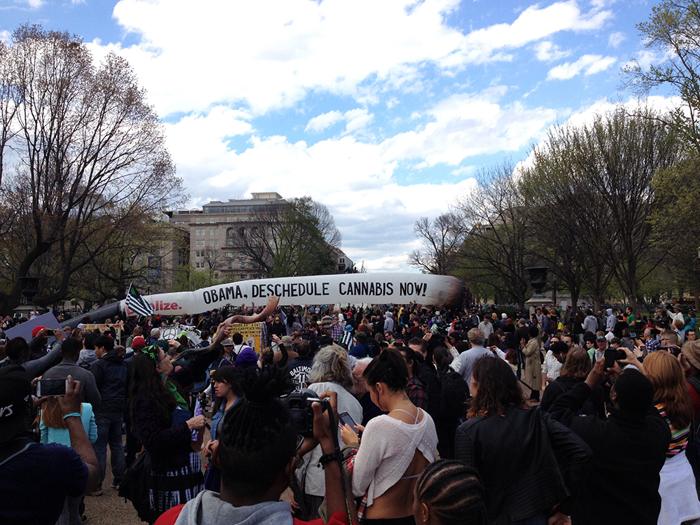 Pro-Cannabis Legalization Groups Protest Outside White House