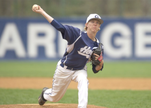 GEORGETOWN ATHLETICS Junior pitcher Simon Mathews threw six strikeouts against Butler on Saturday, marking his second straight complete-game win. Mathews was named Big East Pitcher of the Week.