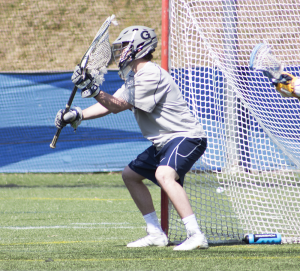 FILE PHOTO: CLAIRE SOISSON/THE HOYA Freshman goalkeeper Nick Marrocco made 13 saves in the first half of Georgetown's 16-4 loss to Villanova on Saturday. Marrocco tallied a season-high 17 goals overall.