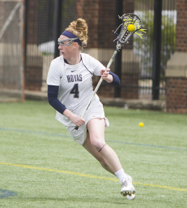FILE PHOTO: NAAZ MODAN/THE HOYA Senior attack and co-captain Corinne Etchison scored two goals in Georgetown's 13-12 win over Marquette on Saturday. She has 20 goals and 11 assists this season.