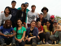 COURTESY TAHIRA TAYLOR (GRD '17) Georgetown MBA students visited New Orleans over Easter break to build houses that were destroyed by Hurricane Katrina in 2005.