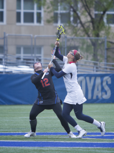 FILE PHOTO: NAAZ MODAN/THE HOYA Senior attack Kelsey Perselay had one goal in Georgetown's 9-8 loss to UConn on Wednesday. She has eight goals this season.
