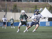 DANIEL KREYTAK/THE HOYA Sophomore attack Stephen Quinzi scored one goal in Georgetown's win over Providence last weekend. He has seven goals this season.