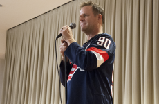 "ELIZA MINEAUX/THE HOYA Comedian Dave Coulier, best known for his role as Uncle Joey on the ABC sitcom ""Full House,"" performed a stand-up routine in an event hosted by the Georgetown Program Board in the Healey Family Student Center last Thursday."