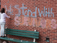 "MICHELLE XU/THE HOYA The opinion piece ""I Stand With Willa,"" co-authored by Zoe Dobkin (SFS '16) and Willa Murphy, contributed to the movement demanding that the administration amend its response to sexual assault cases."