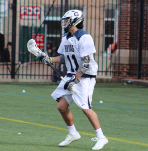 CLAIRE SOISSON/THE HOYA Sophomore midfielder Craig Berge has scored six goals and taken 23 shots this season. In his freshman season, Berge was third on the team in points with 16 goals and 21 assists for 37 points.