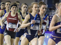 COURTESY GEORGETOWN SPORTS INFORMATION Graduate student Andrea Keklak was a part of the squad that won the women's distance medley relay event at the NCAA indoor track championships. She ran the 1200m leg of the event in 3:24.11.