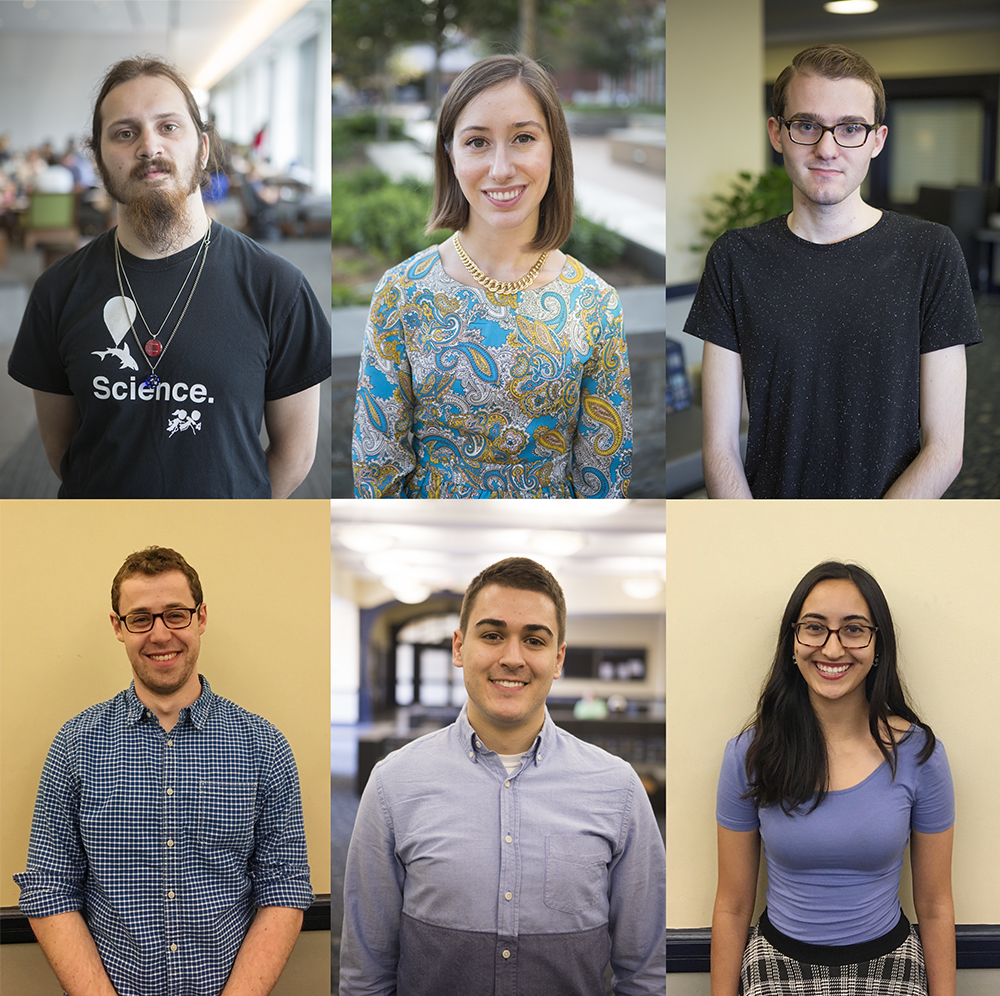 DANIEL SMITH/THE HOYA AND KSHITHIJ SHRINATH/THE HOYA Seven students will be honored as valedictorians this weekend, including a record four students from the college. Not pictured: Rahul Kaul.