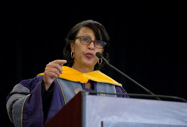 GEORGETOWN UNIVERSITY National League of Nursing CEO Dr. Beverly Malone discussed the important role of core values in achieving success in her commencement address to the School of Nursing & Health Studies on Saturday.
