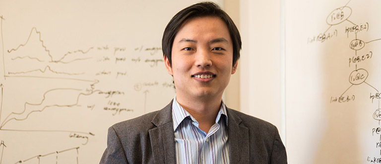 TESS O'CONNOR Professor Wenchao Zhou (pictured), professor Micah Sherr and professor Clay Shields have received $1.7 million to develop new cyber defense for distributed denial of service attacks.