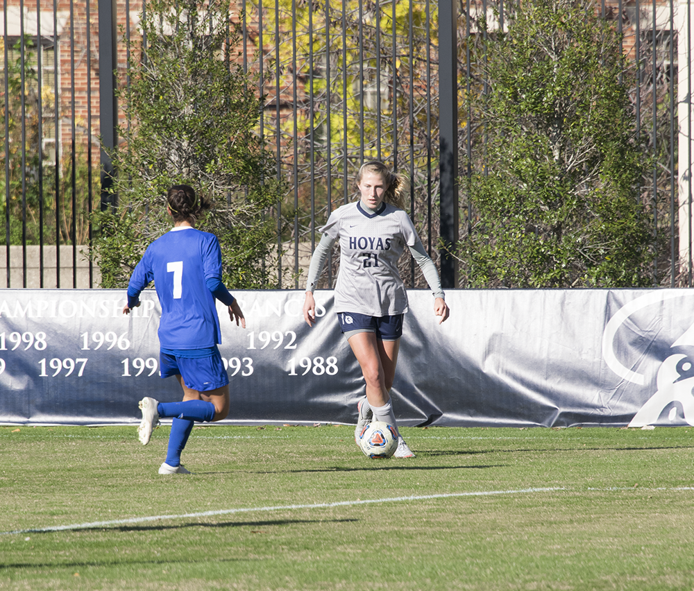 FILE PHOTO: ROBERT CORTES/THE HOYA Senior forward Grace Damaska had one shot in Saturday's 0-0 draw against Providence.