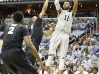 FILE PHOTO: CLAIRE SOISSON/The HOYA Junior forward Isaac Copeland averaged 11.1 points per game and 5.4 rebounds per game last season.