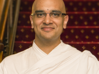 himalayan academy Brahmachari Vrajvihari Sharan (center) was appointed as Georgetown's first full-time director for Hindu Life in August, when he also became the first ever Hindu priest Chaplain in the United States.