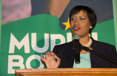 FILE PHOTO: NATASHA THOMPSON/THE HOYA Mayor Muriel Bowser announced changes to MPD's body-worn camera protocol, including mandating officers to confirm with dispatchers that they are recording, following the shooting of Terrence Sterling.