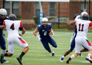 COURTESY GUHOYAS Senior running back Alex Valles ran for 93 yards Saturday. He has a team-high 185 rushing yards this season and is averaging 7.1 yards per carry through two games.
