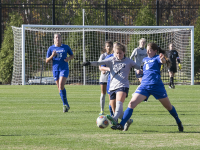 FILE PHOTO: ROBERT CORTES/THE HOYA Junior midfielder Rachel Corboz, 10, had four shots and two shots on goal in Sunday's game against Providence.