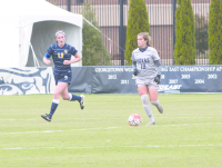 FILE PHOTO: Jenna Chen/The Hoya Junior midfielder Rachel Corboz has started all nine games this season. She leads the team with 20 points, has scored seven goals and has tallied six assists. She has won multiple Big East Offensive Player of the Week awards.