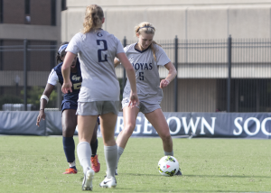 FILE PHOTO: JULIA HENNRIKUS/THE HOYA Graduate student defender Marina Paul was a preseason All-Big East selection last season and started the first four games before suffering a season-ending knee injury.