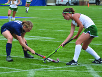 FILE PHOTO: KARLA LEYJA/THE HOYA Senior defender and co-captain Molly Thompson earned her second assist of the season Sunday. Thompson also has one goal this season.