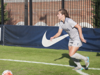 FILE PHOTO: ELIZA MINEAUX/THE HOYA Junior midfielder Rachel Corboz leads the team in assists with six and is second on the team in goals with eight. She also leads the team in shots and shots on goal.