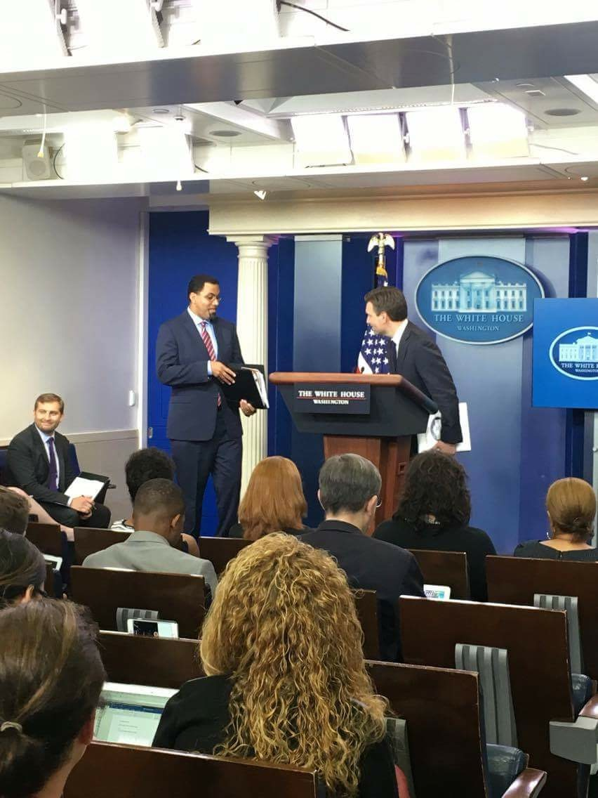 BEN GOODMAN/THE HOYA Secretary of Education John King addressed the earlier FAFSA deadline, a change made last year by President Barack Obama intended to make it easier for families to navigate federal financial aid at the White House on Thursday.
