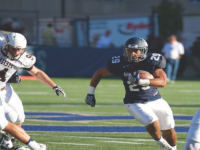 GEORGETOWN ATHLETICS Sophomore running back Chris Bermudez ran for 38 yards on Saturday. He has rushed for two touchdowns this year.