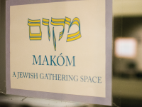 JINWOO CHONG/THE HOYA Anti-Semitic graffiti was found near the Makóm Jewish gathering space in Leavey Center.