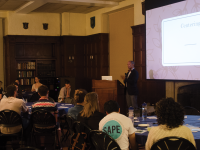 "LAUREN SEIBEL/The hoya ""Are You Ready?"" is an annual conversation on preventing sexual assault on campus and returned for its 14th year Wednesday in Copley Formal Lounge."