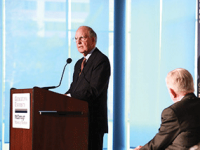 MSB Former Senate Majority Leader George Mitchell spoke at an MSB event where he, along with other business and government experts, offered their advice to the next U.S. president.