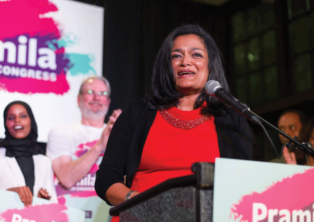 PRAMILLA JAYAPAL Six Georgetown alumni, including Pramilla Jayapal (CAS '86), will be joining 22 other members of Congress who graduated from Georgetown.