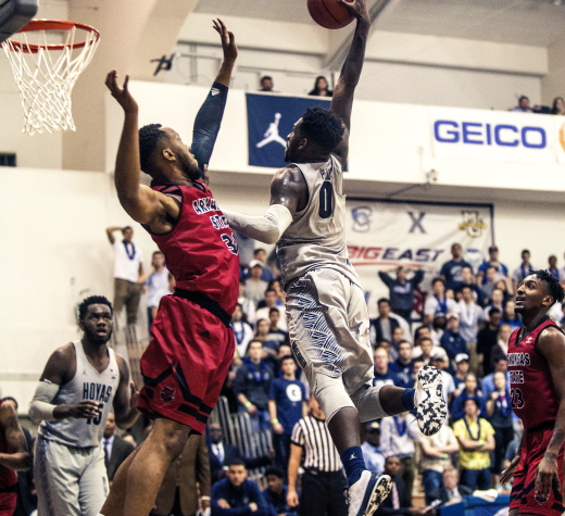 Junior guard LJ Peak finished the 2016-17 season ranking second on the team with 16.2 points per game and led the team with 3.5 assists per game. (FILE PHOTO: DAN KREYTAK/THE HOYA)