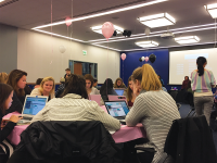 TAIT RYSSAL/THE HOYA Georgetown University Women Coders held a programming event to provide women with more exposure to computer science fields.