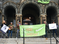 JEANINE SANTUCCI/THE HOYA Georgetown will require Nike, Inc. to provide the Worker Rights Consortium, a labor rights group, access to supplier factories. The agreement comes after a 35-hour sit-in by the workers rights group Georgetown Solidarity Committee in December.