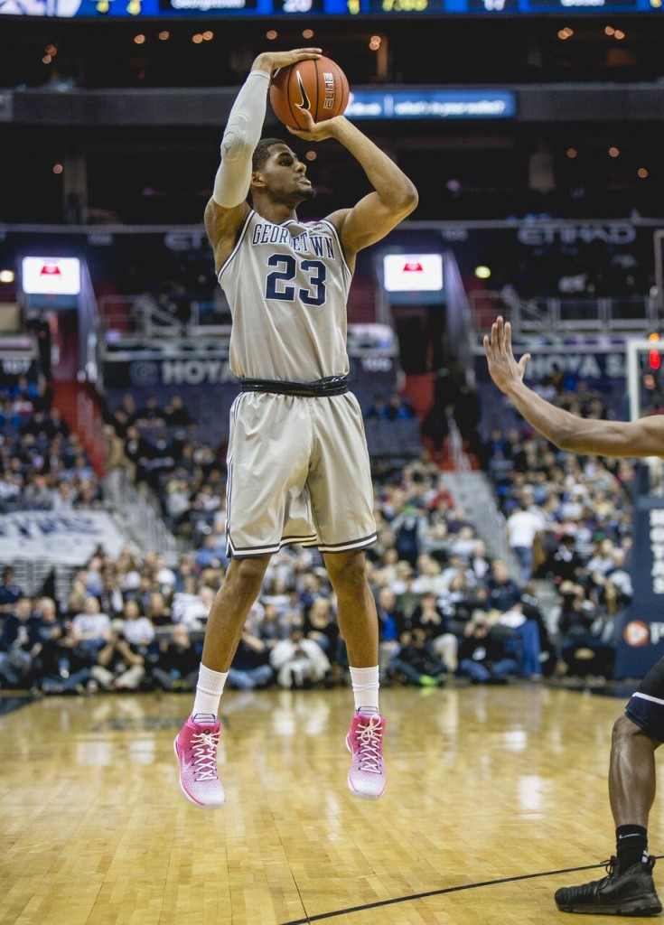 Graduate student guard Rodney Pryor scored 23 points on 10-of-12 shooting in Sunday's loss to Xavier. (FILE PHOTO: DAN KREYTAK/THE HOYA)