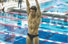 Senior diver Jared Cooper-Vespa defended his title in the 3-meter dive while also claiming second place in the 1-meter dive. (COURTESY GUHOYAS)