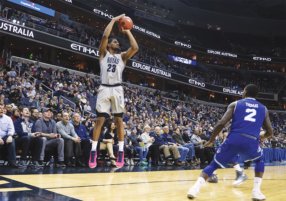 Graduate student guard and leading scorer Rodney Pryor ranks third in the conference with 18.2 points per game. (DERRICK ARTHUR/THE HOYA)