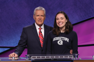 "COURTESY JULIA MARSAN Julia Marsan (COL '17), a classics major, is set to appear next week on ""Jeopardy!"" after completing an almost four-monthlong application process, including an online test, a screen test in New York and a trivia test before filming in Los Angeles in January."
