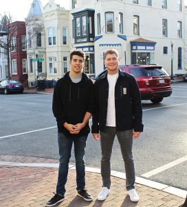 COURTESY ASLI ACAR Kevin Fleishman (MSB '18) and Alejandro Ernst (MSB '18) started Outcome Tutoring to provide high quality academic assistance.