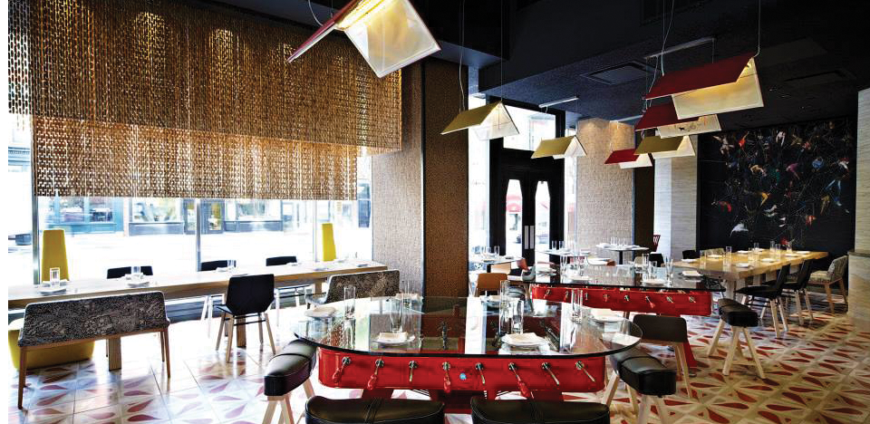 JALEO Founded in 1993 by internationally acclaimed culinary inventor José Andrés, Jaleo aims at recreating the vibrant Spanish culture in the form of a whimsical atmosphere, beehive-patterned walls, scrumptious tapas and superb sangria.