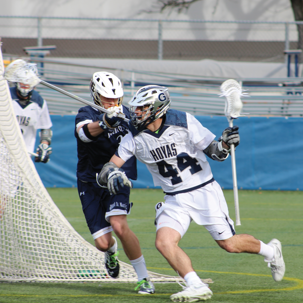 Sophomore attack Daniel Bucaro scored Georgetown's first goal of the season and had one assist in Tuesday's loss to High Point. (COURTESY GUHOYAS)