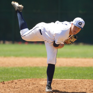 Sophomore right handed pitcher Jack Cushing pitched 57 innings and posted a 4.58 ERA  in 17 games  last season. (COURTESY GUHOYAS)