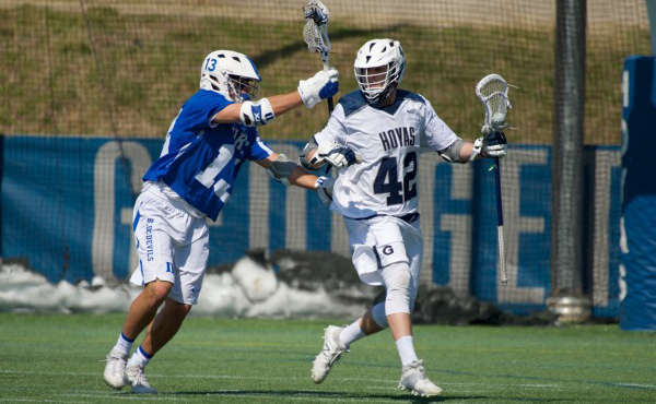 Redshirt junior attack Pete Conley tallied two assists in Saturday's loss to Duke. Conely ranks second on the team with 24 points this season. (COURTESY GUHOYAS)
